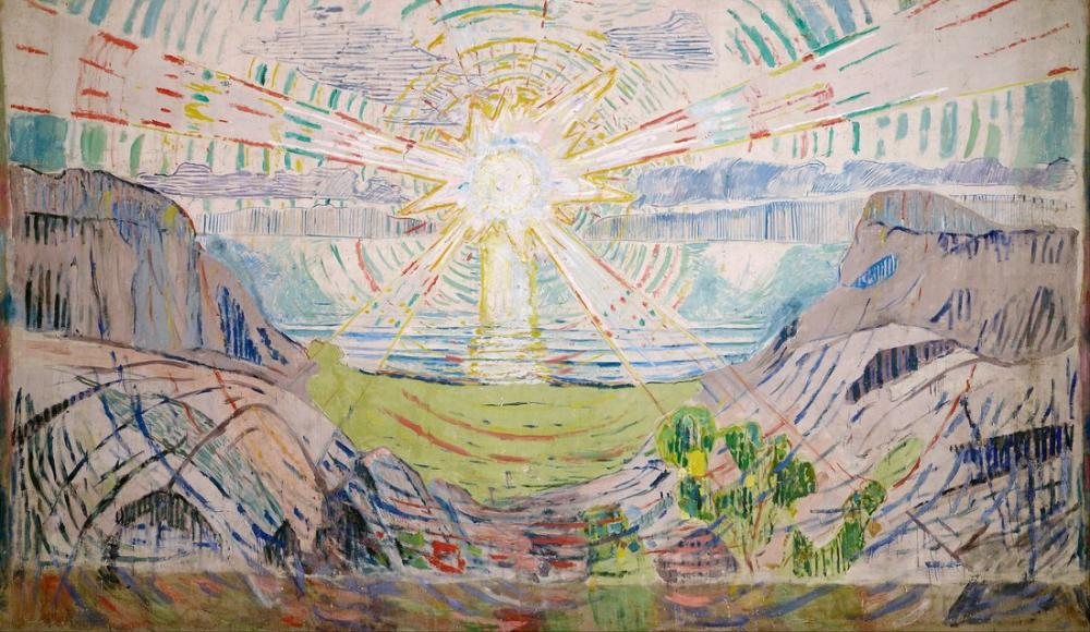 Edvard Munch Güneş II, Kanvas Tablo, Edvard Munch, kanvas tablo, canvas print sales