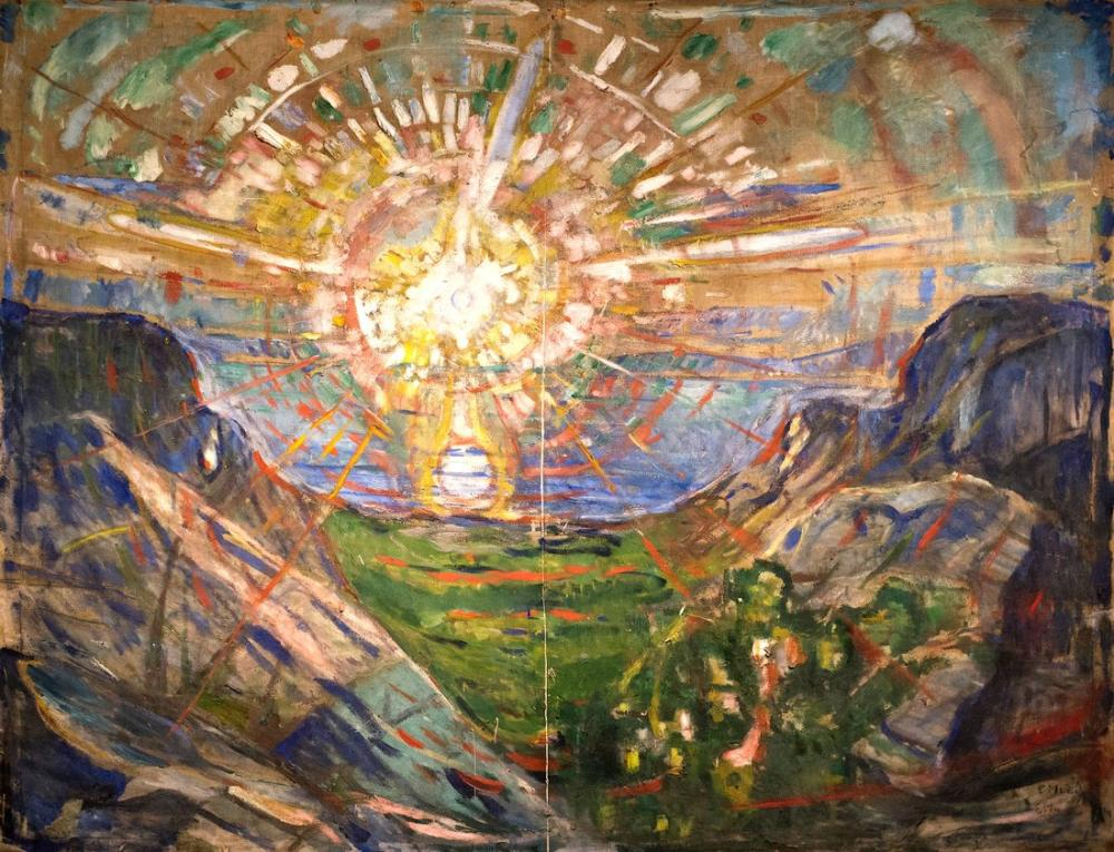 Edvard Munch Güneş III, Kanvas Tablo, Edvard Munch, kanvas tablo, canvas print sales