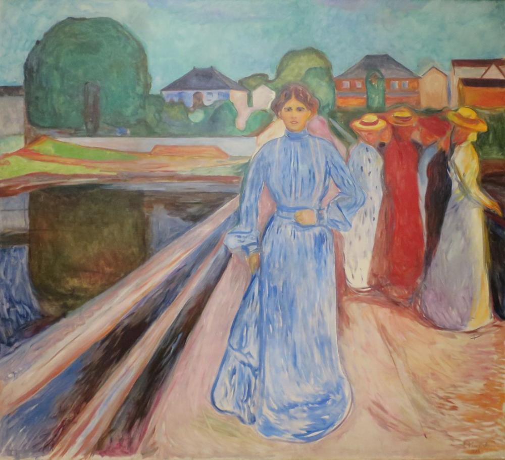 Edvard Munch İskeledeki Kadınlar, Kanvas Tablo, Edvard Munch, kanvas tablo, canvas print sales