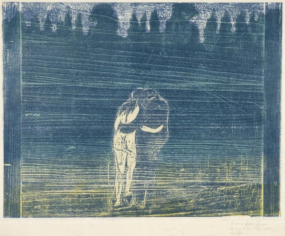 Edvard Munch Ormana Doğru I, Kanvas Tablo, Edvard Munch, kanvas tablo, canvas print sales