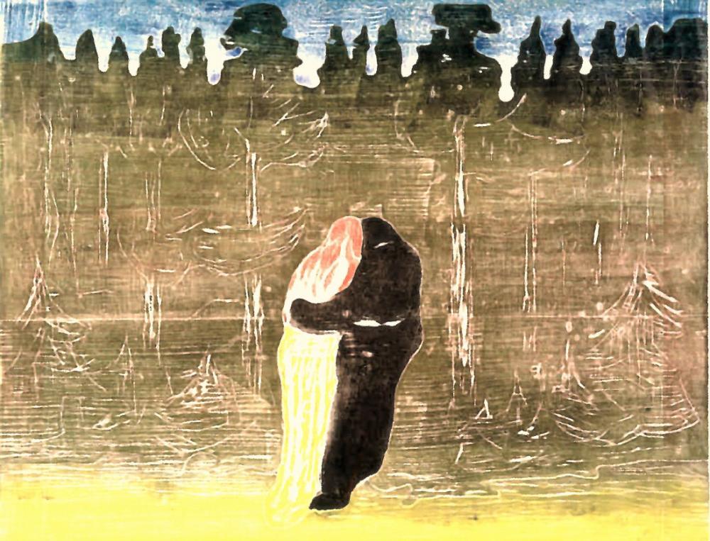 Edvard Munch Ormana Doğru II, Kanvas Tablo, Edvard Munch, kanvas tablo, canvas print sales