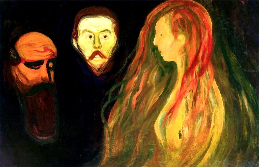 Edvard Munch Trajedi, Kanvas Tablo, Edvard Munch, kanvas tablo, canvas print sales