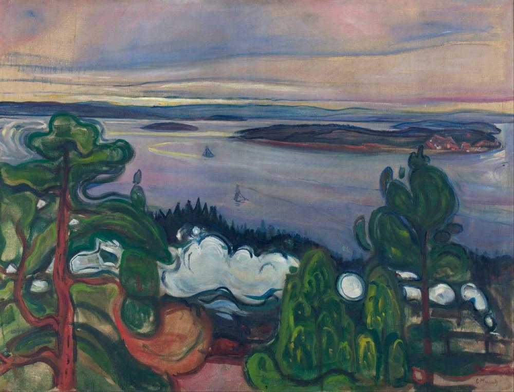 Edvard Munch Tren Dumanı, Kanvas Tablo, Edvard Munch, kanvas tablo, canvas print sales
