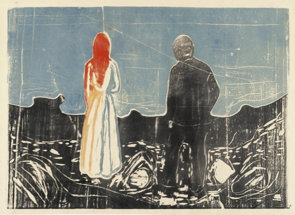 Edvard Munch İki İnsan Yalnız Olanlar, Kanvas Tablo, Edvard Munch, kanvas tablo, canvas print sales