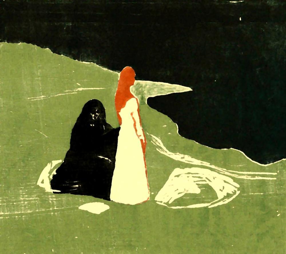 Edvard Munch İki Kadın, Kanvas Tablo, Edvard Munch, kanvas tablo, canvas print sales