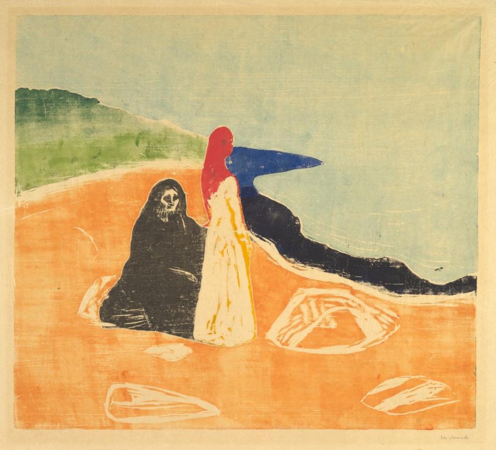 Edvard Munch Two Women On The Shore, Canvas, Edvard Munch, kanvas tablo, canvas print sales