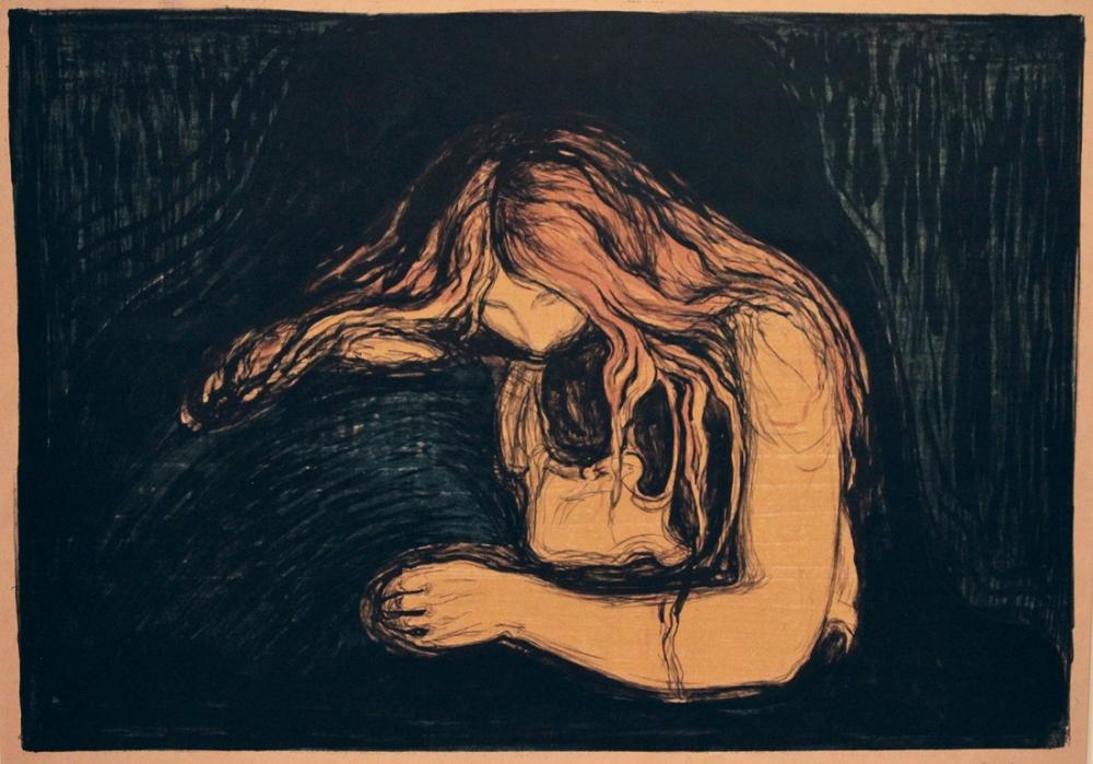 Edvard Munch Vampir II, Kanvas Tablo, Edvard Munch, kanvas tablo, canvas print sales
