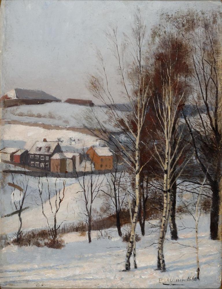 Edvard Munch View From Fossveien, Canvas, Edvard Munch, kanvas tablo, canvas print sales