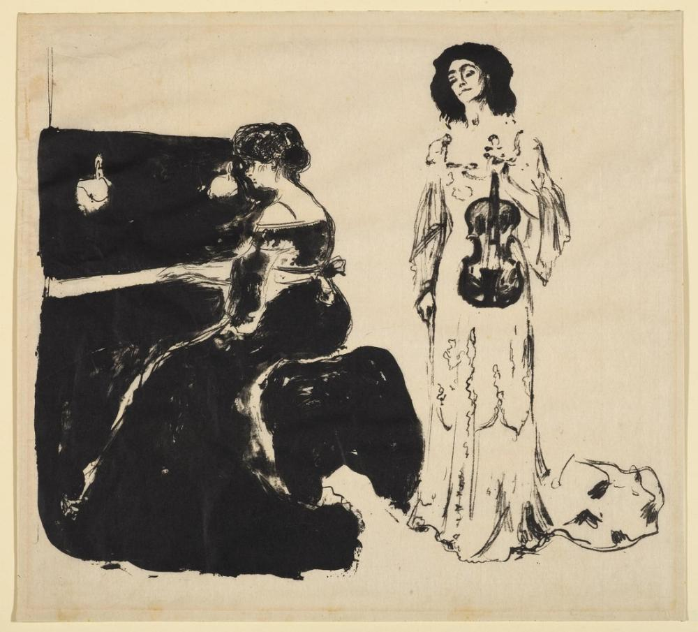Edvard Munch Keman Konseri, Kanvas Tablo, Edvard Munch