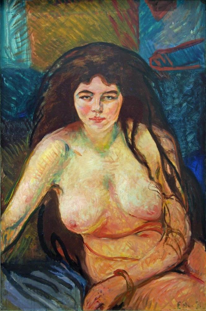 Edvard Munch Kadın Yarım Hareketli Sprengel, Kanvas Tablo, Edvard Munch, kanvas tablo, canvas print sales