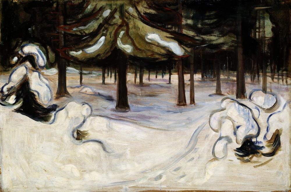 Edvard Munch Winter In The Woods Nordstrand, Canvas, Edvard Munch, kanvas tablo, canvas print sales