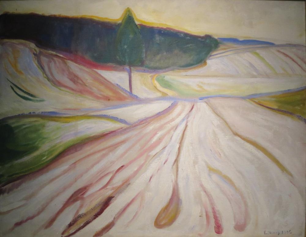 Edvard Munch Thüringen den Kış Manzarası, Kanvas Tablo, Edvard Munch, kanvas tablo, canvas print sales