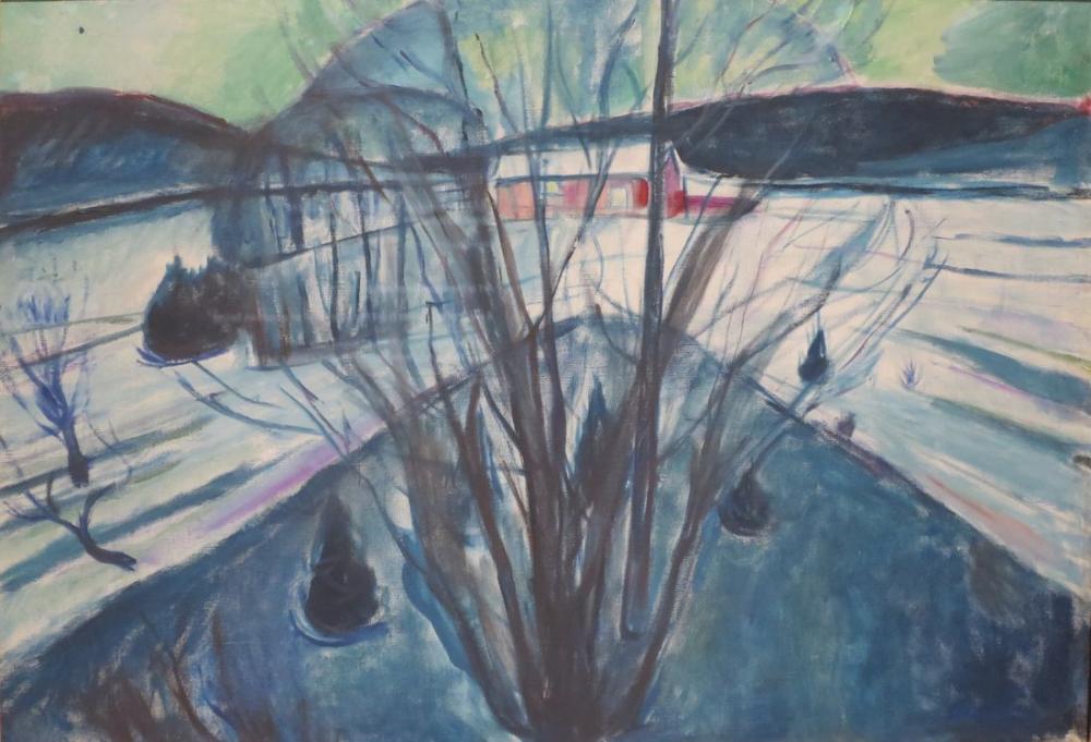 Edvard Munch  Winter Night Ekely, Canvas, Edvard Munch, kanvas tablo, canvas print sales