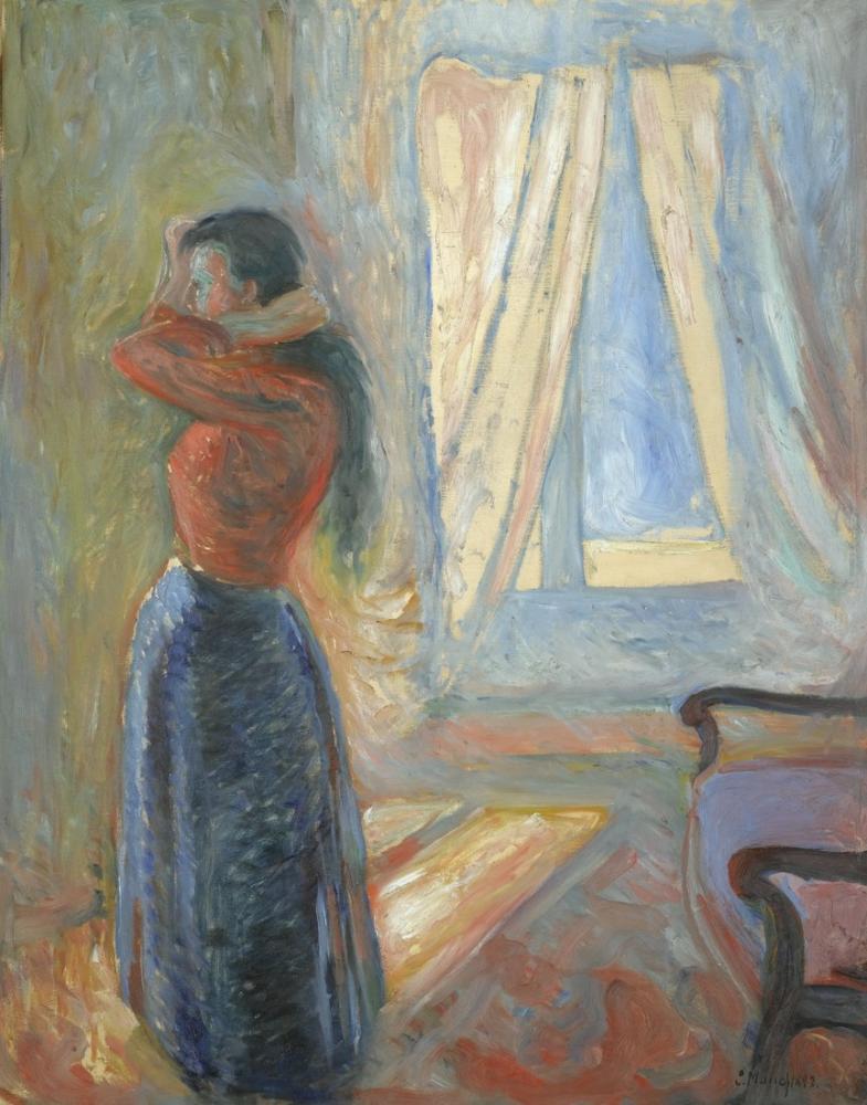 Edvard Munch Aynaya Bakan Kadın, Kanvas Tablo, Edvard Munch, kanvas tablo, canvas print sales