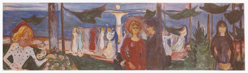 Edvard Munch Denizde Dans Linde Friz, Kanvas Tablo, Edvard Munch, kanvas tablo, canvas print sales