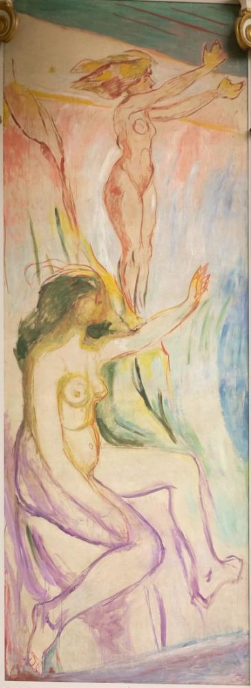 Edvard Munch Güneşe Bakan Kadınlar, Kanvas Tablo, Edvard Munch, kanvas tablo, canvas print sales