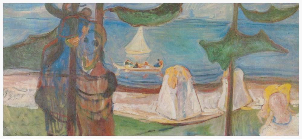 Edvard Munch Yaz Günü, Kanvas Tablo, Edvard Munch, kanvas tablo, canvas print sales