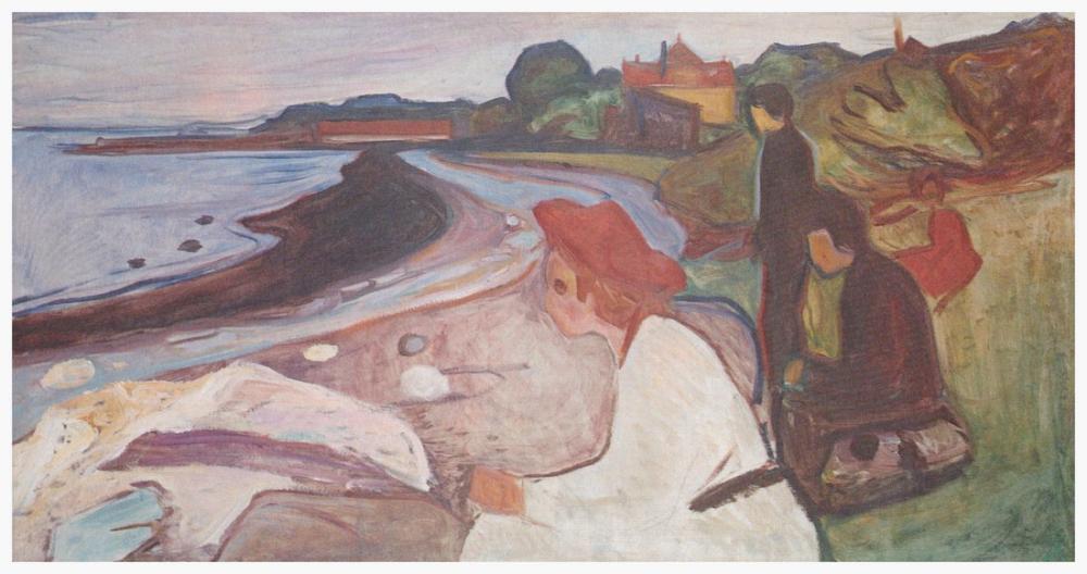 Edvard Munch Deniz Yolunda Gençlik, Kanvas Tablo, Edvard Munch, kanvas tablo, canvas print sales