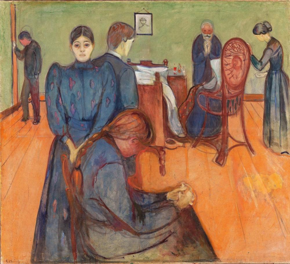 Edvard Munch Ölüm Hastalığı, Kanvas Tablo, Edvard Munch, kanvas tablo, canvas print sales