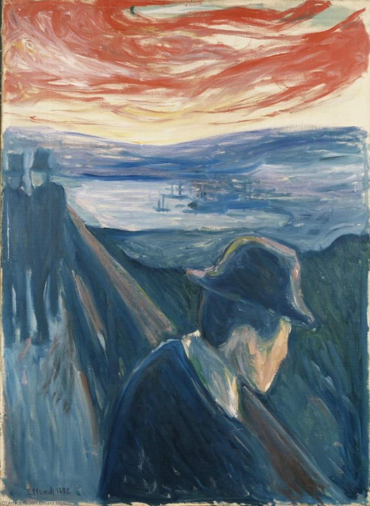Edvard Munch Desire Despair, Canvas, Edvard Munch, kanvas tablo, canvas print sales