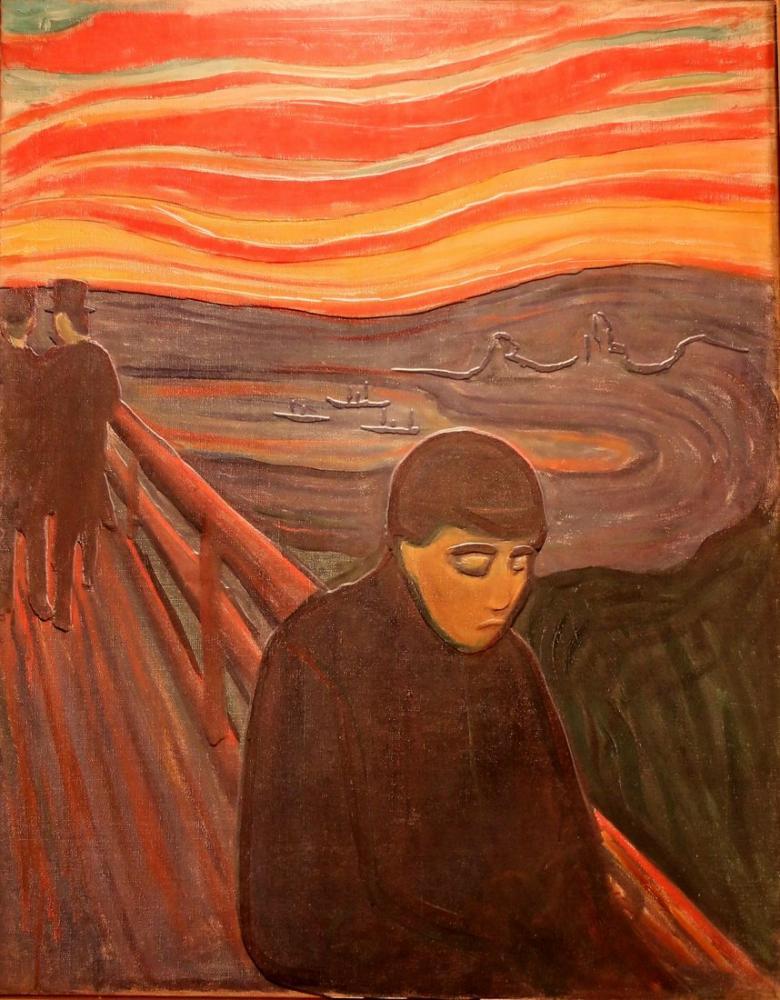 Edvard Munch Desire Despair II, Canvas, Edvard Munch, kanvas tablo, canvas print sales