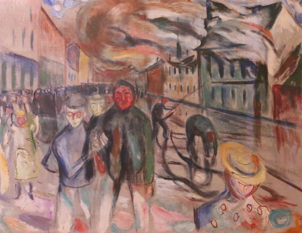 Edvard Munch Yangın Dağları, Kanvas Tablo, Edvard Munch, kanvas tablo, canvas print sales