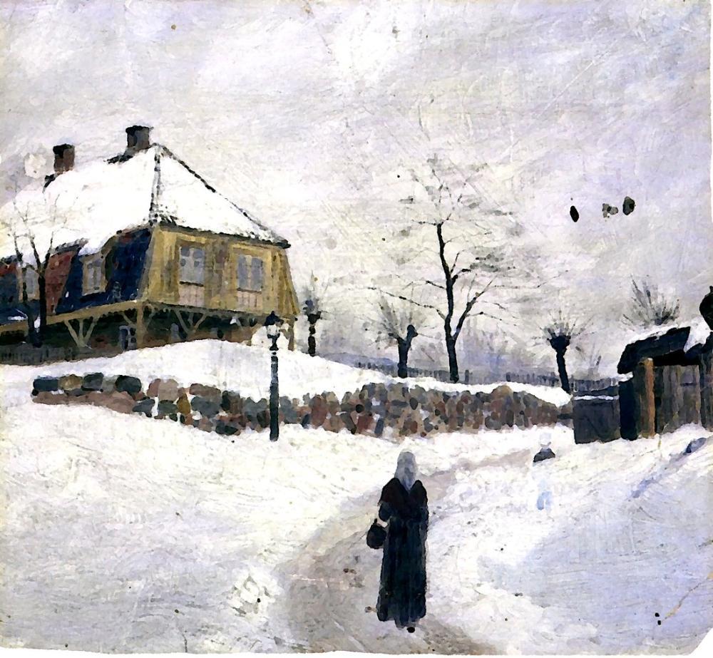 Edvard Munch Kış Aylarında Foss, Kanvas Tablo, Edvard Munch, kanvas tablo, canvas print sales
