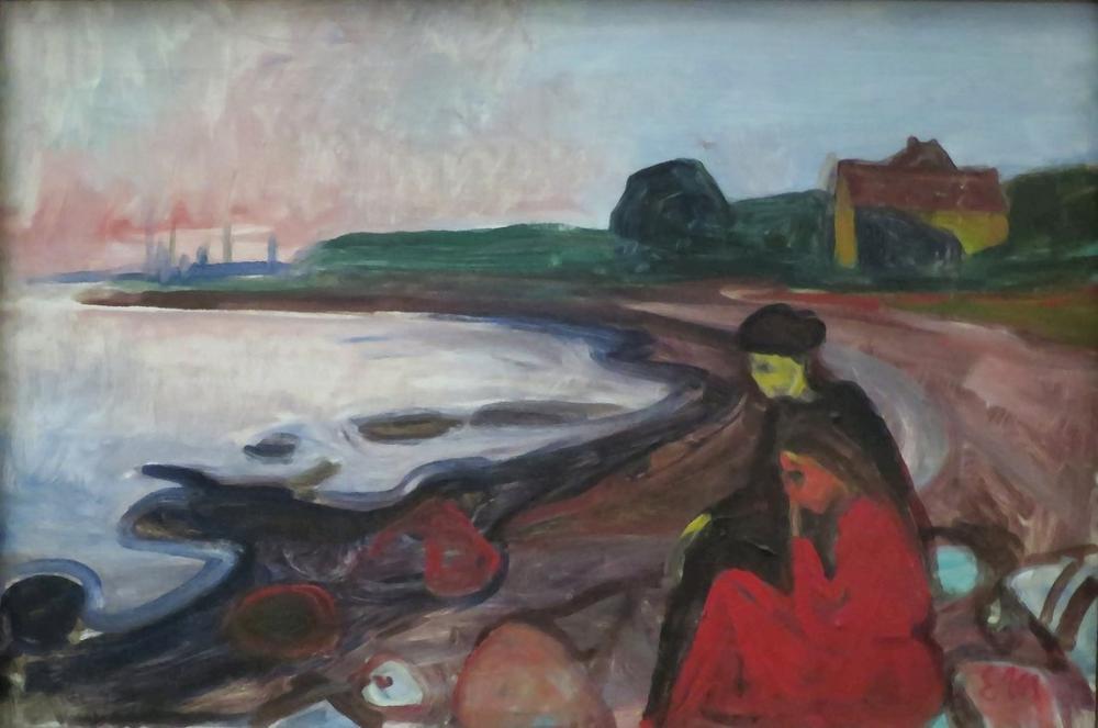 Edvard Munch Asgardstrand Çıkışlı, Kanvas Tablo, Edvard Munch, kanvas tablo, canvas print sales