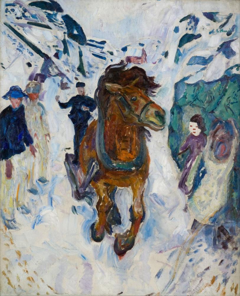 Edvard Munch Dörtnala At, Kanvas Tablo, Edvard Munch, kanvas tablo, canvas print sales