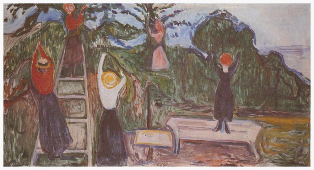 Edvard Munch Meyve Toplama Linde Friz, Kanvas Tablo, Edvard Munch, kanvas tablo, canvas print sales
