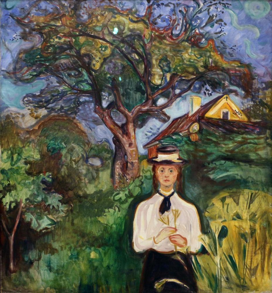Edvard Munch Bir Elma Ağacının Altında, Kanvas Tablo, Edvard Munch, kanvas tablo, canvas print sales