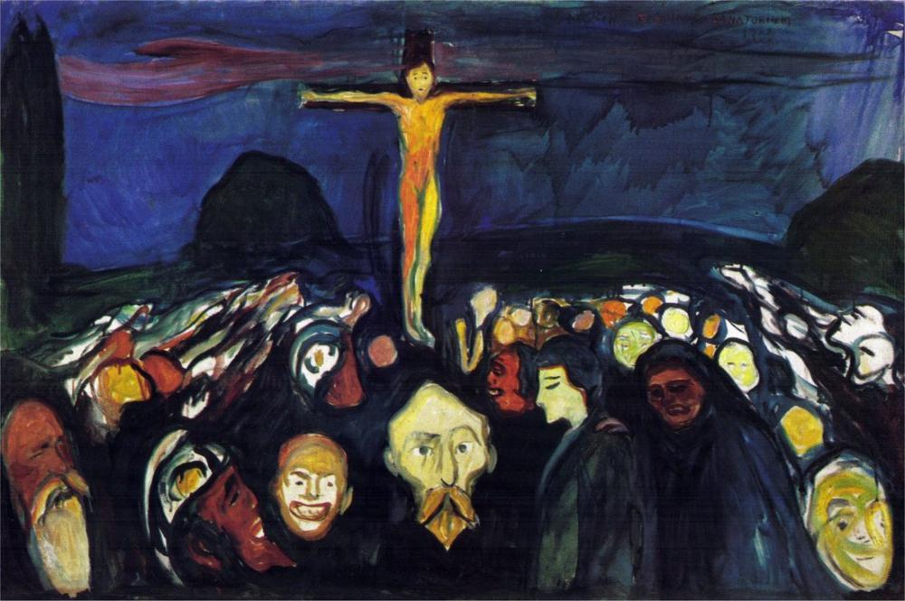 Edvard Munch Golgotha, Canvas, Edvard Munch, kanvas tablo, canvas print sales