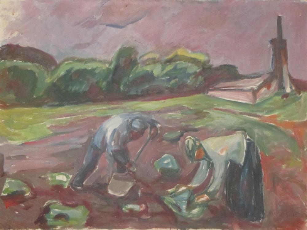 Edvard Munch Serada Zemin Çalışması, Kanvas Tablo, Edvard Munch, kanvas tablo, canvas print sales