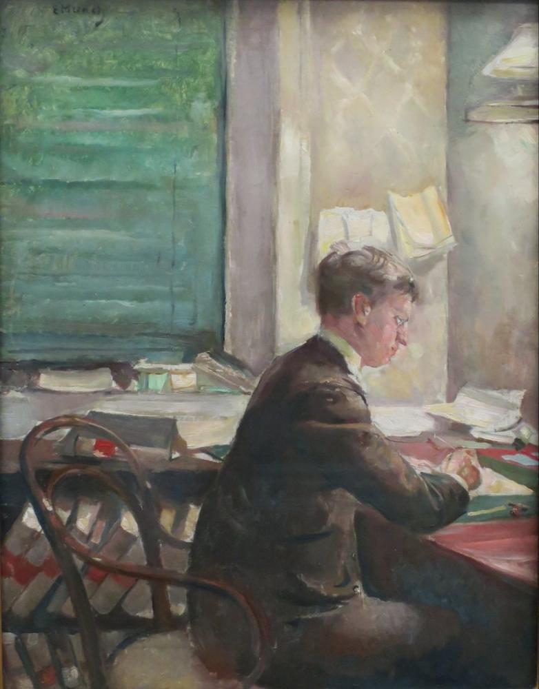 Edvard Munch Halvard Stub Holmboe, Canvas, Edvard Munch, kanvas tablo, canvas print sales
