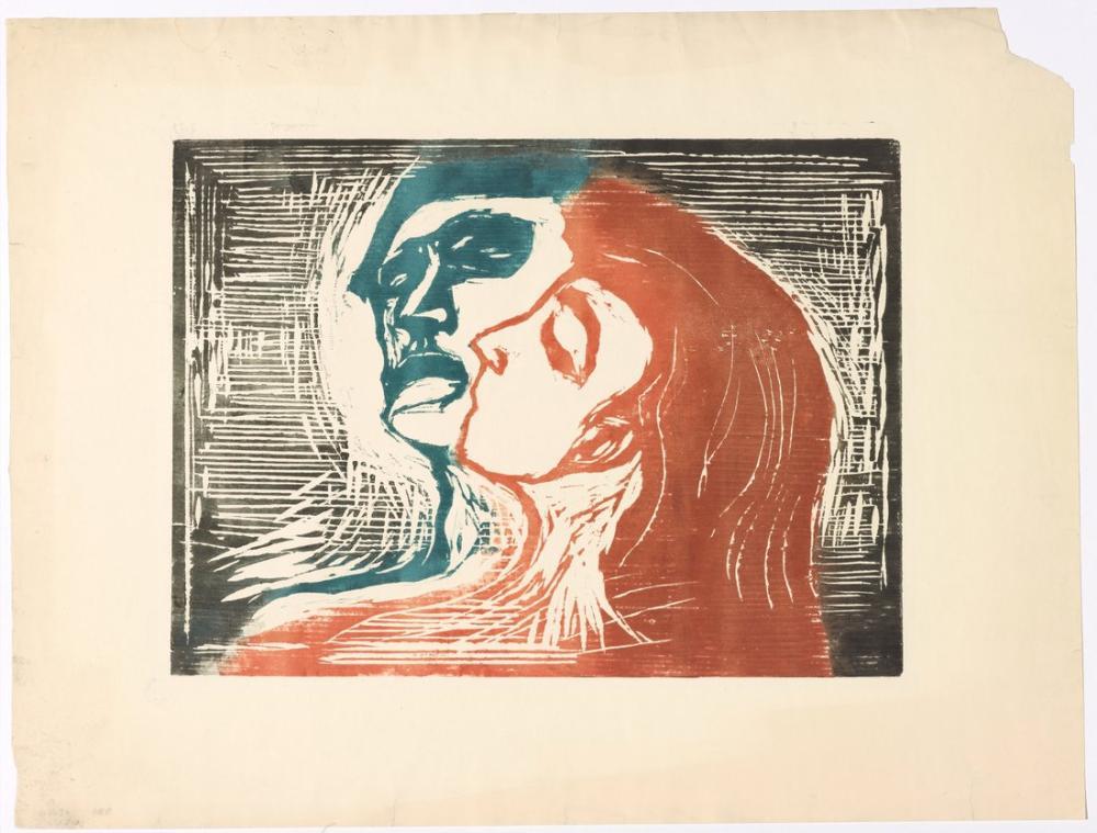 Edvard Munch Kafa Kafaya, Kanvas Tablo, Edvard Munch, kanvas tablo, canvas print sales