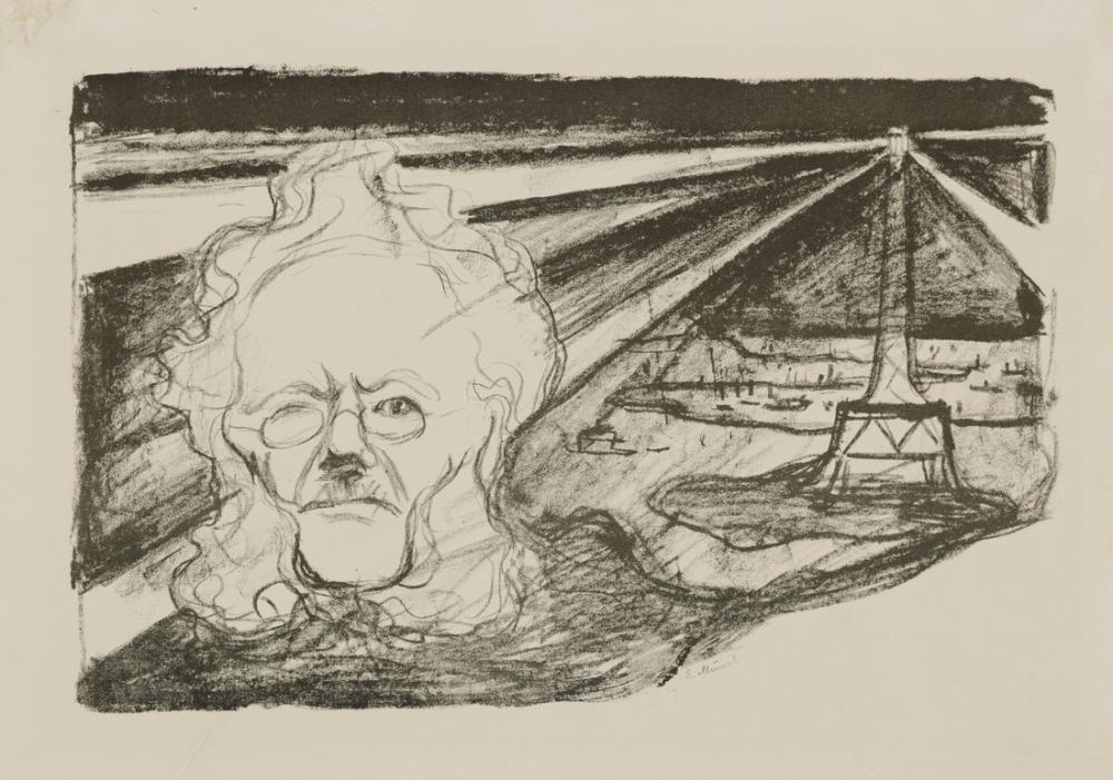 Edvard Munch Ibsen İle Deniz Feneri, Kanvas Tablo, Edvard Munch, kanvas tablo, canvas print sales