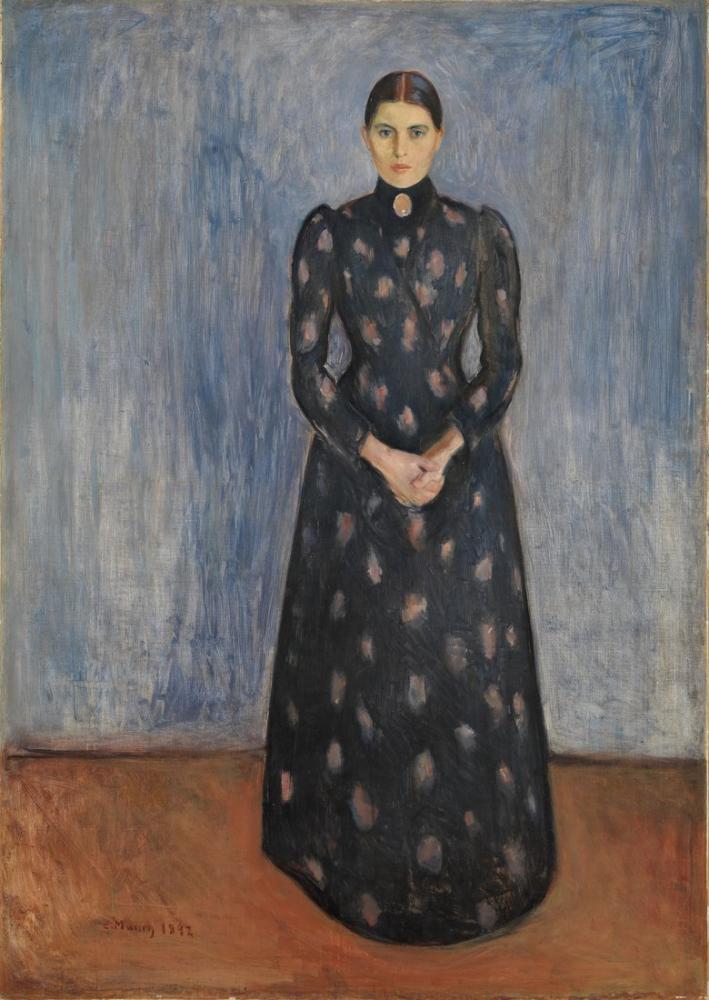Edvard Munch Siyah Ve Menekşe İçinde, Kanvas Tablo, Edvard Munch, kanvas tablo, canvas print sales