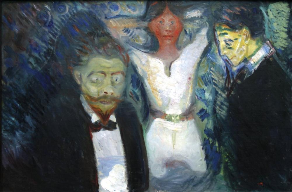 Edvard Munch Kıskançlık II, Kanvas Tablo, Edvard Munch, kanvas tablo, canvas print sales