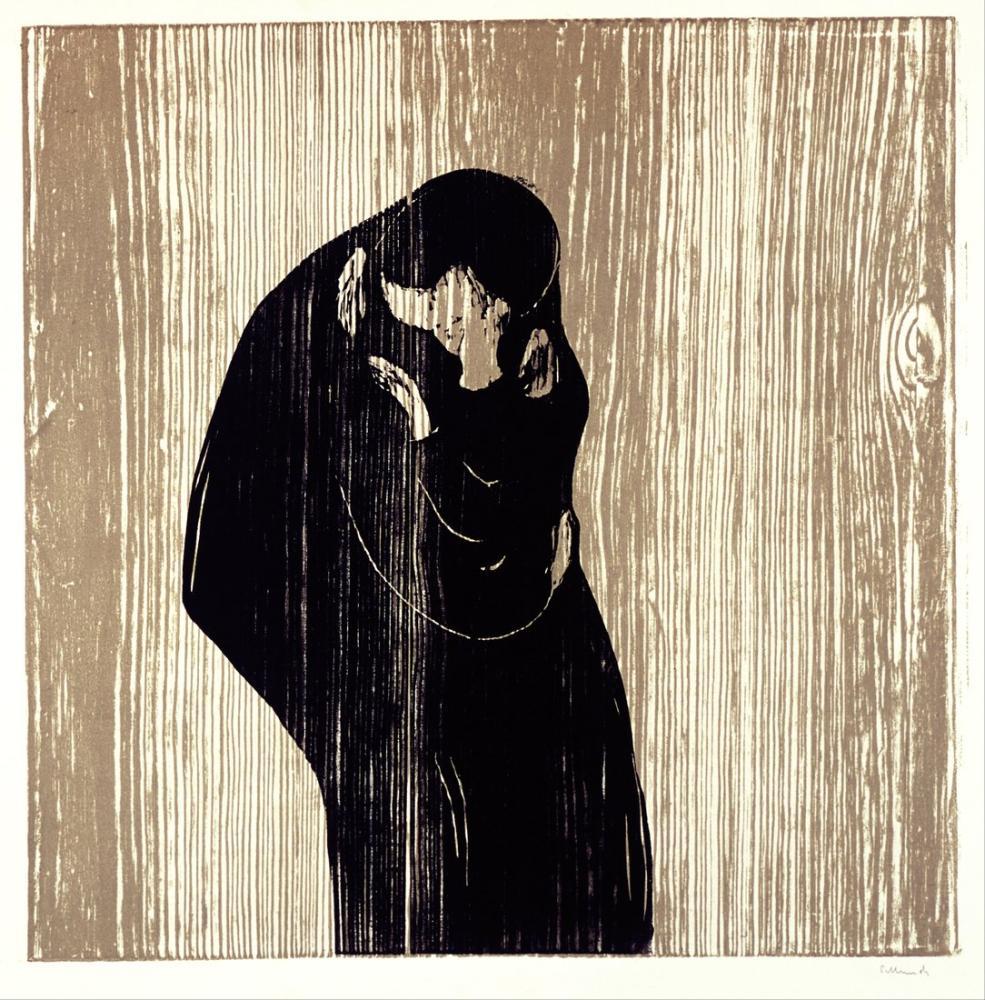 Edvard Munch Kiss IV, Canvas, Edvard Munch, kanvas tablo, canvas print sales