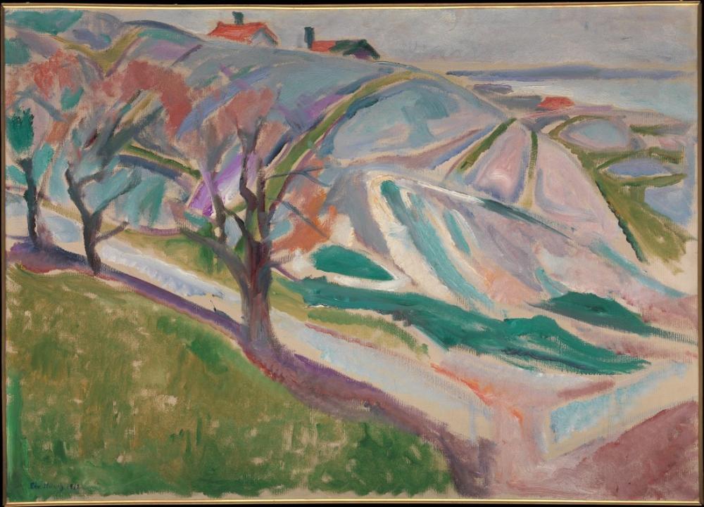 Edvard Munch Kragere Manzarası, Kanvas Tablo, Edvard Munch, kanvas tablo, canvas print sales