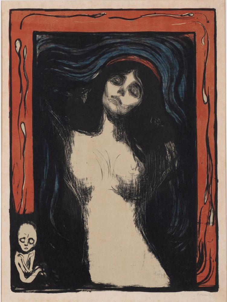 Edvard Munch Madonna II, Kanvas Tablo, Edvard Munch, kanvas tablo, canvas print sales