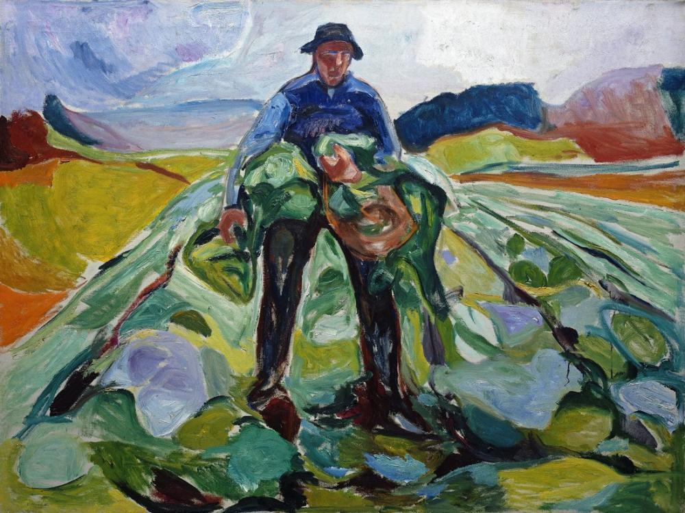 Edvard Munch Lahana Tarlasındaki Adam, Kanvas Tablo, Edvard Munch, kanvas tablo, canvas print sales