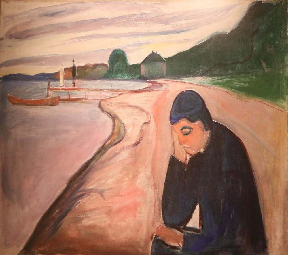 Edvard Munch Melankoli II, Kanvas Tablo, Edvard Munch, kanvas tablo, canvas print sales