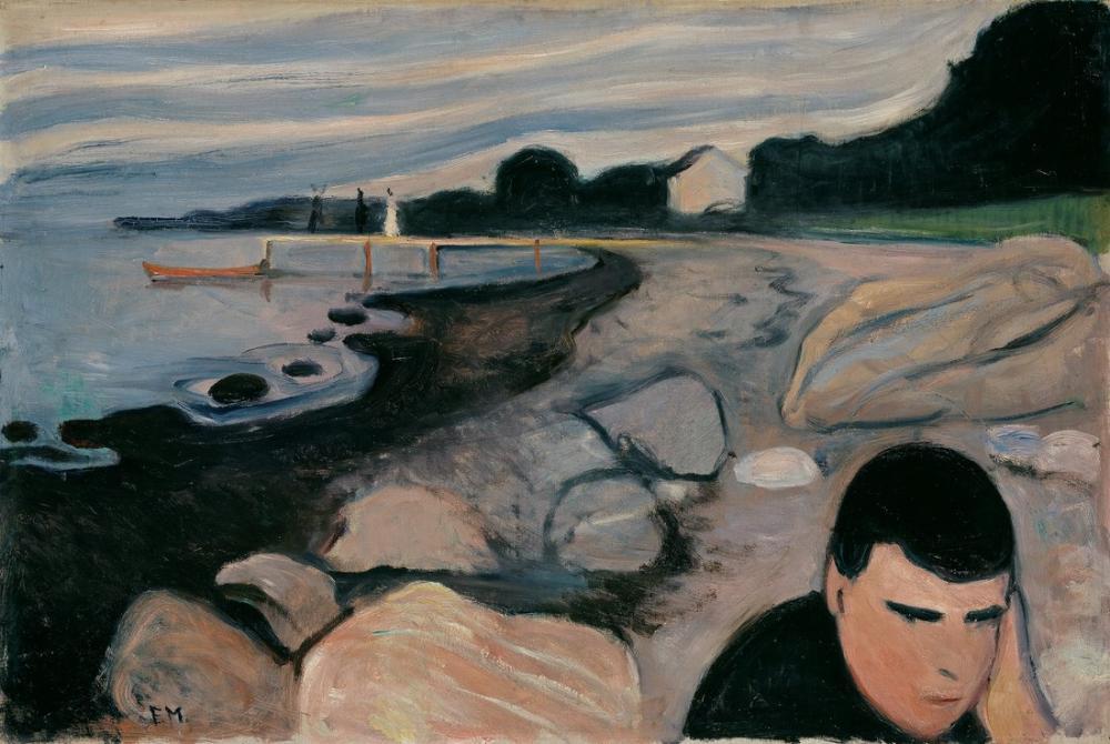 Edvard Munch Melankoli III, Kanvas Tablo, Edvard Munch, kanvas tablo, canvas print sales