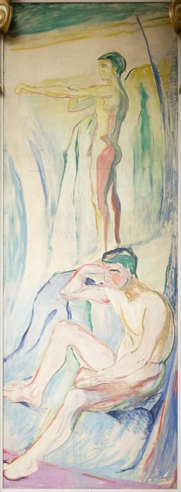 Edvard Munch Adam Güneşe Döndü, Kanvas Tablo, Edvard Munch, kanvas tablo, canvas print sales