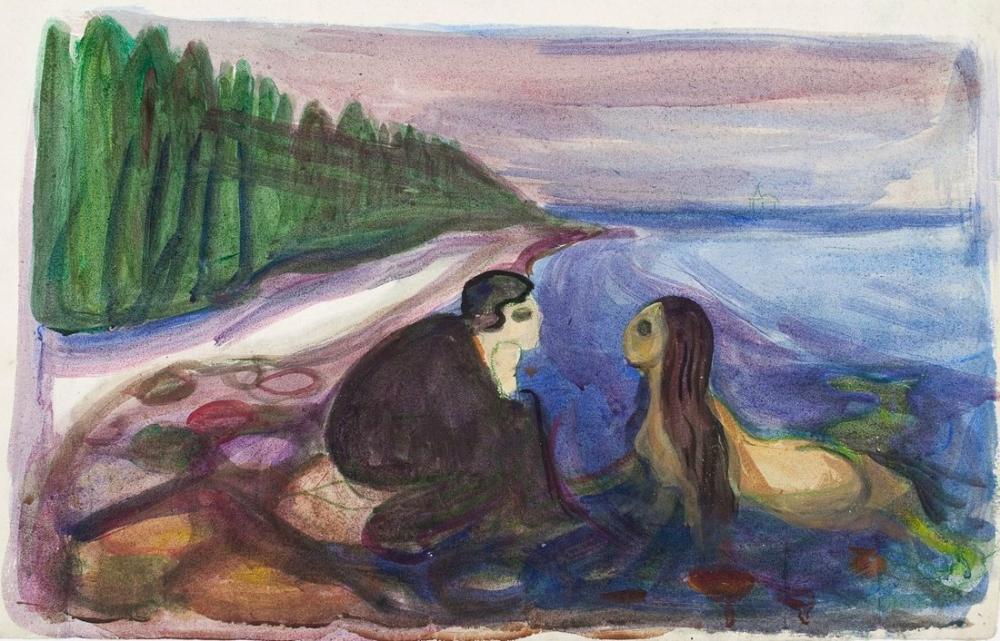 Edvard Munch Mermaid, Canvas, Edvard Munch, kanvas tablo, canvas print sales