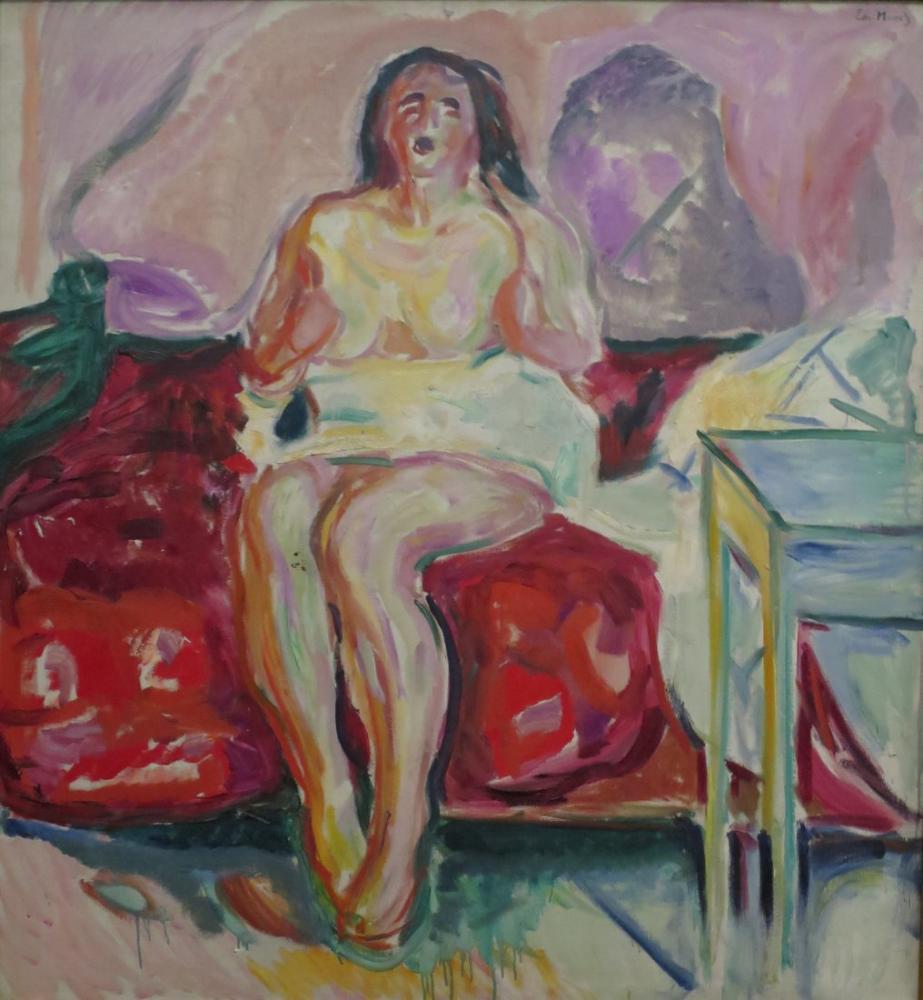 Edvard Munch Sabah Yawn, Kanvas Tablo, Edvard Munch, kanvas tablo, canvas print sales