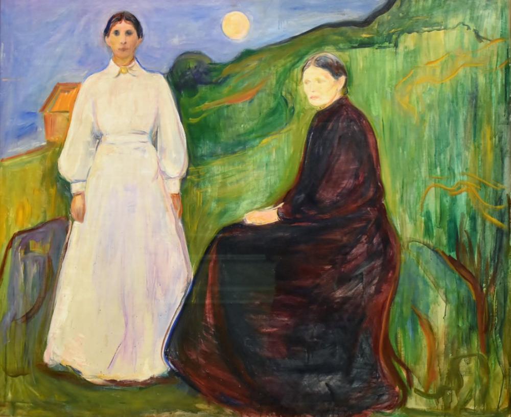 Edvard Munch Anne ve Kızı, Kanvas Tablo, Edvard Munch, kanvas tablo, canvas print sales