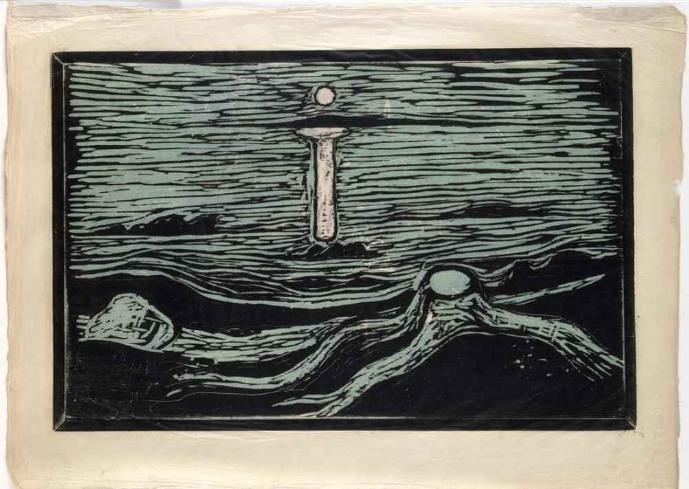 Edvard Munch Mystical Shore, Canvas, Edvard Munch, kanvas tablo, canvas print sales