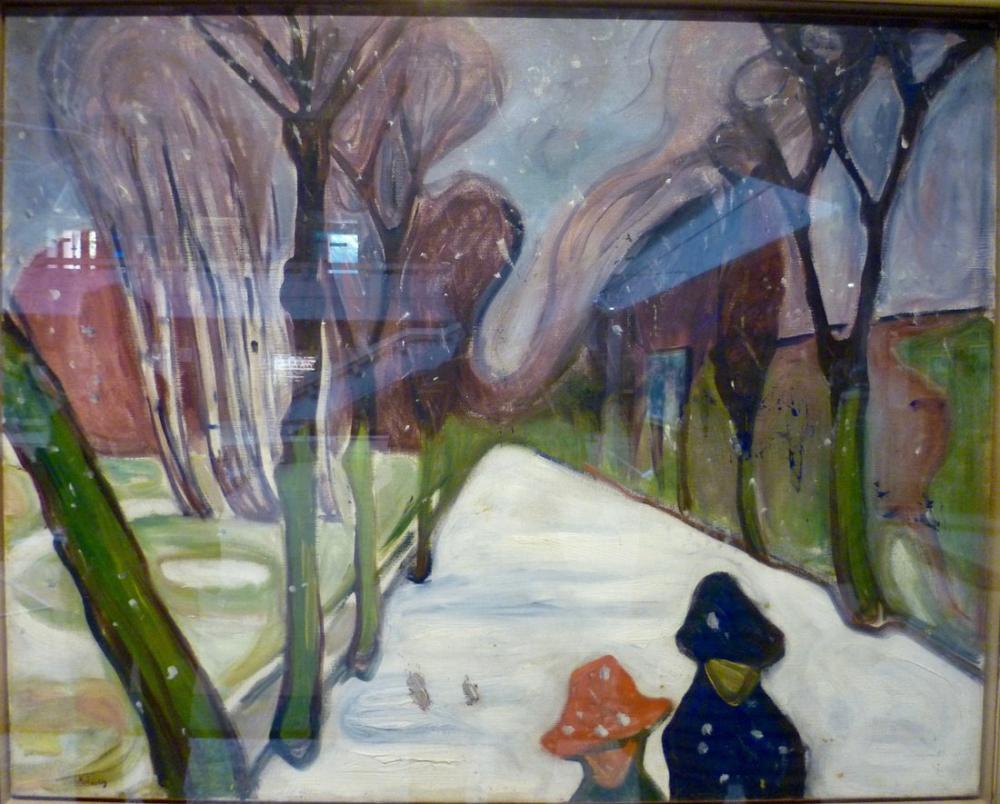 Edvard Munch Caddede Yeni Kar, Kanvas Tablo, Edvard Munch, kanvas tablo, canvas print sales